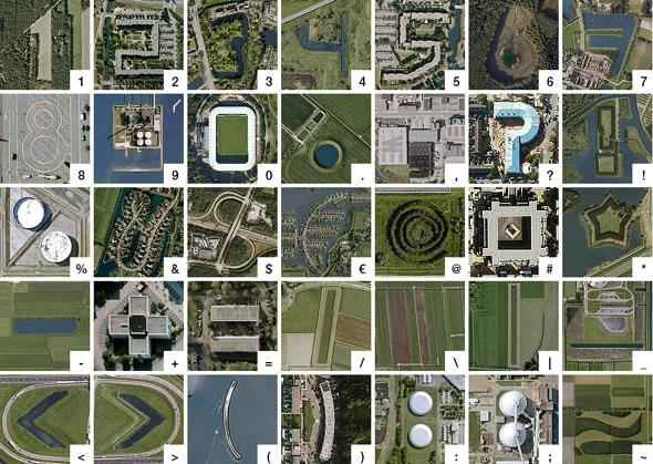 Via bmdesign :      The Google Earth Alphabet