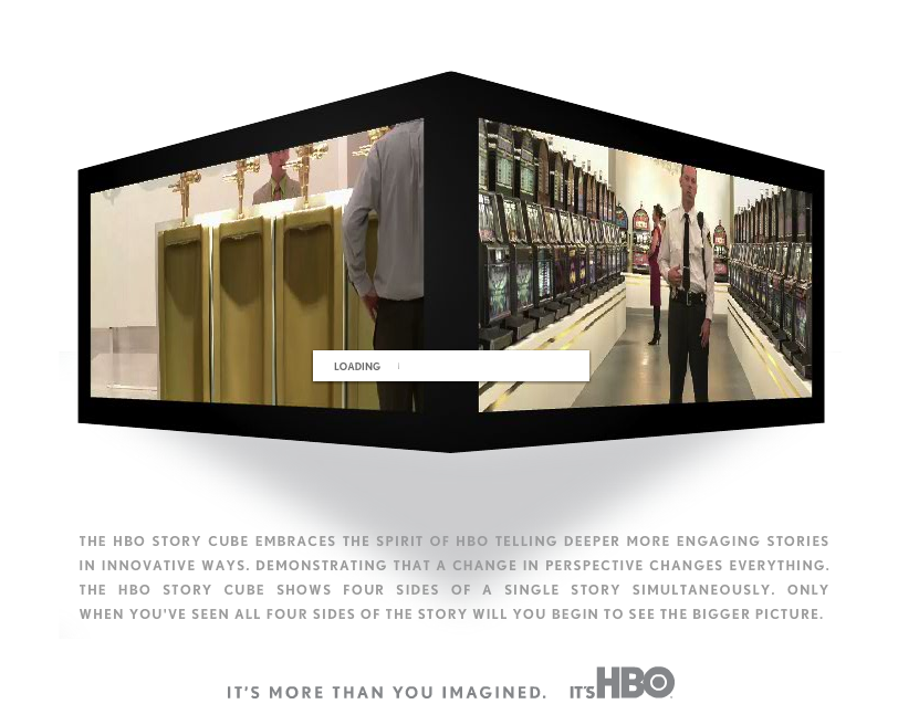 Storytelling: A different perspective. Innovative branding campaign for HBO. (There can be *many* sides to stories.)
