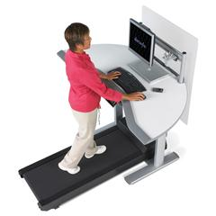 The ultimate in productivity:    Steelcase's  Walkstation . Who wouldn't want one of these?!   MSRP: $4,499 (your mileage may vary)