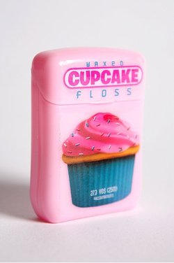 Cupcake-flavored dental floss (available at Urban Outfitters). Seriously.