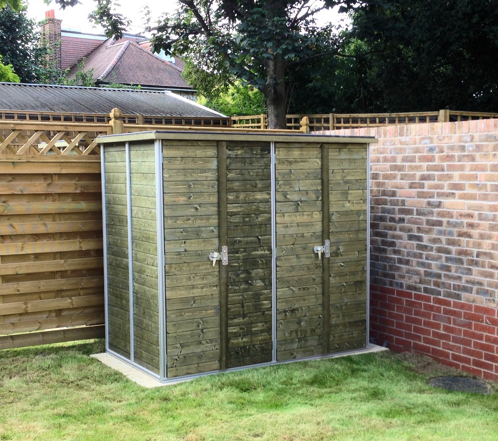 Shed incorporating bike storage installed in Roehampton for Berkeley Homes