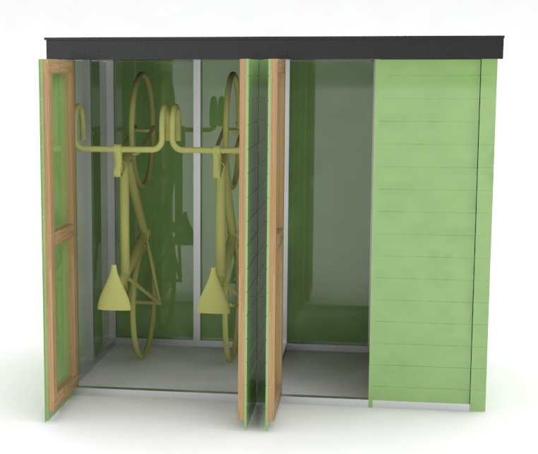 CAD image of bicycle storage solution