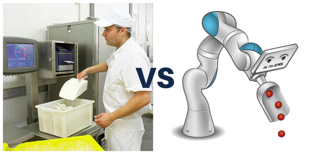 Traditional Ingredient Weighing Vs Robotic Weighing