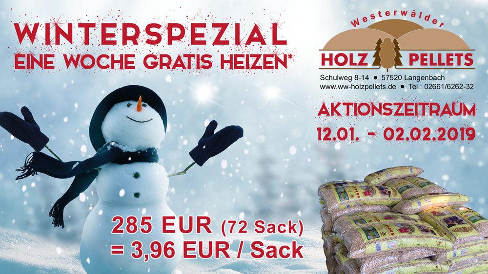 Winterspezial – 7 Säcke = 105 kg geschenkt