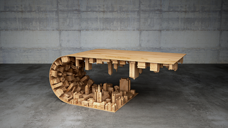 Wave City Coffee Table (photo: Mousarris)