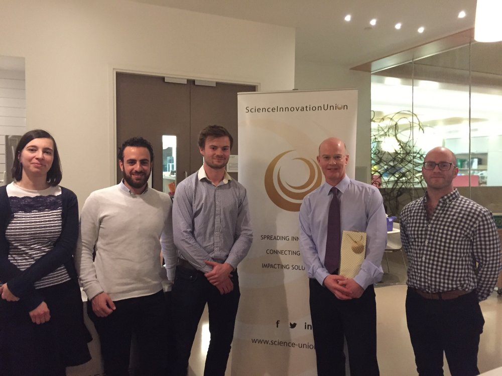The SIU team with Philip Webber at the first SIUConversations session of the Oxford series