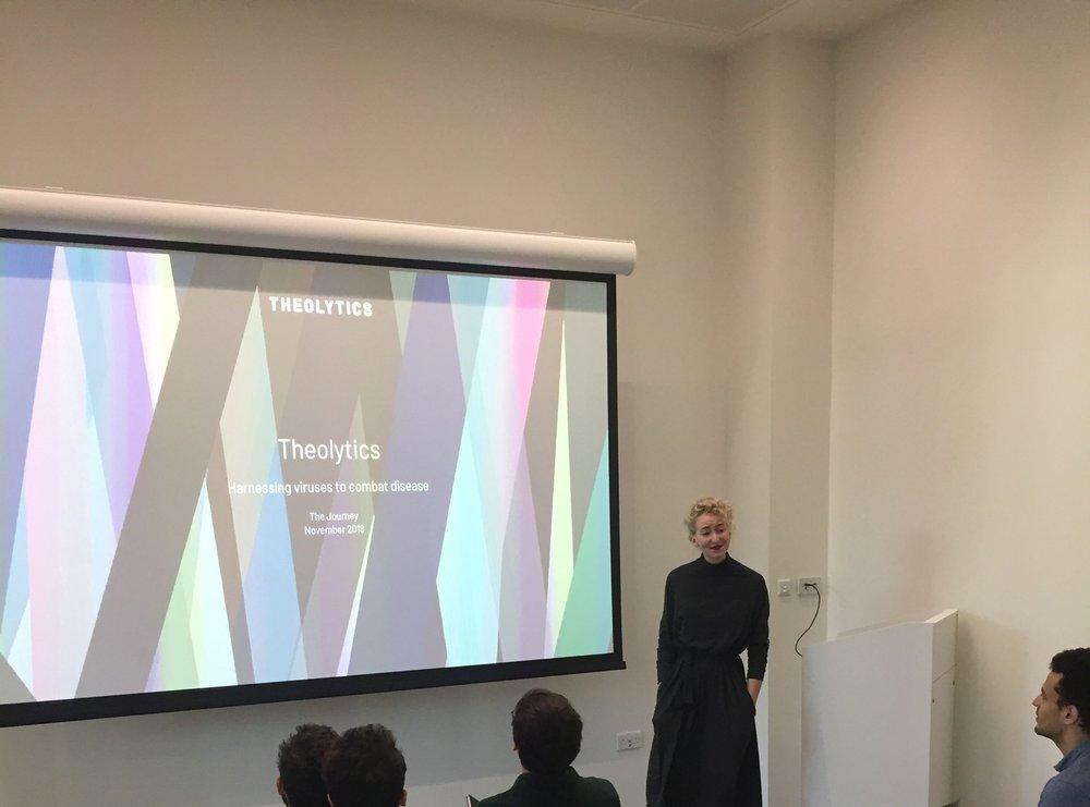 CEO Charlotte Casebourne, Theolytics