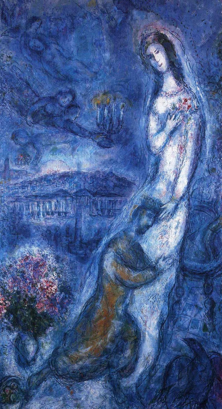 'Bathsheba' gan Marc Chagall (1887-1985)
