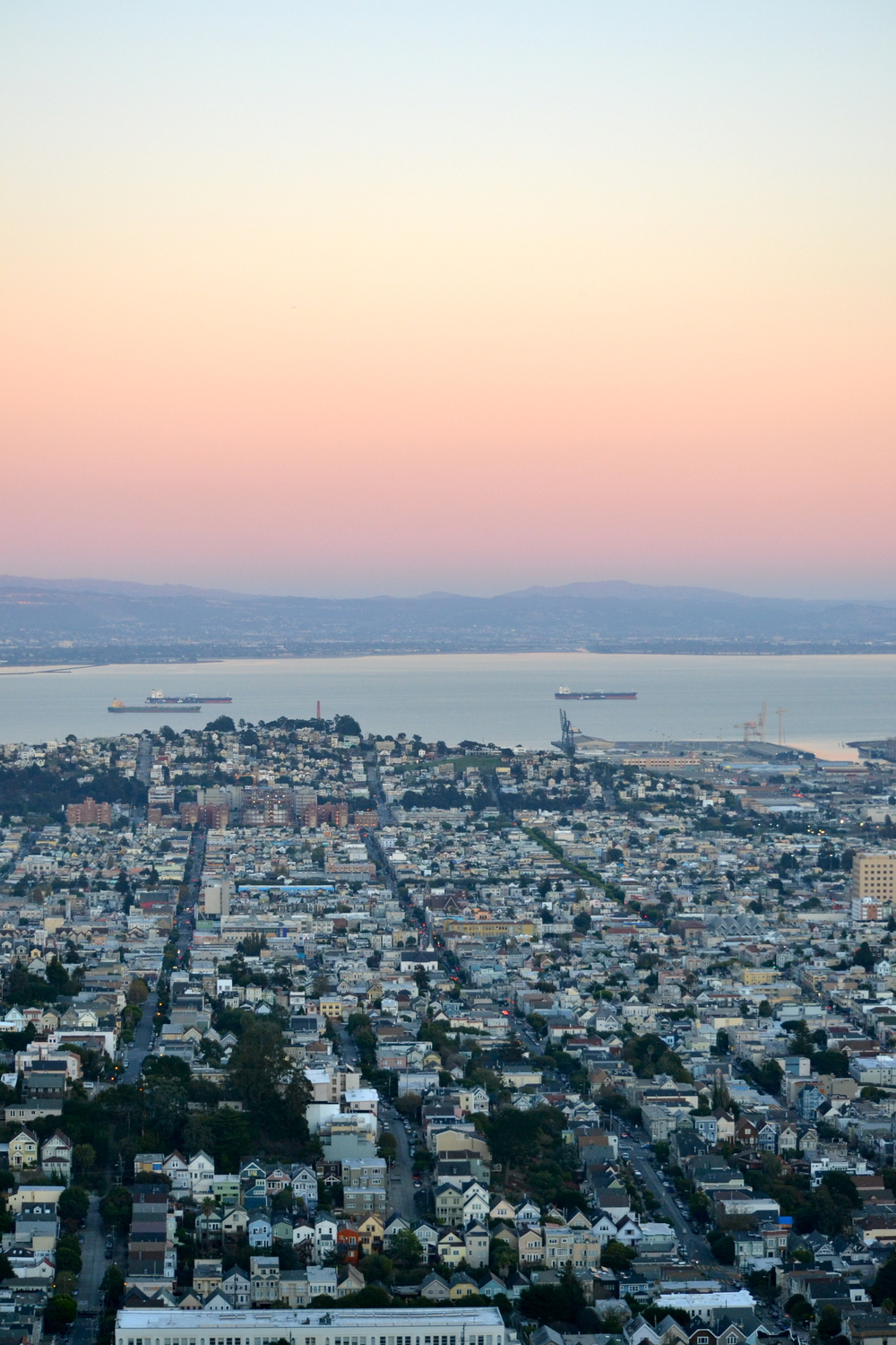 Sunset, Twin Peaks, San Francisco, California
