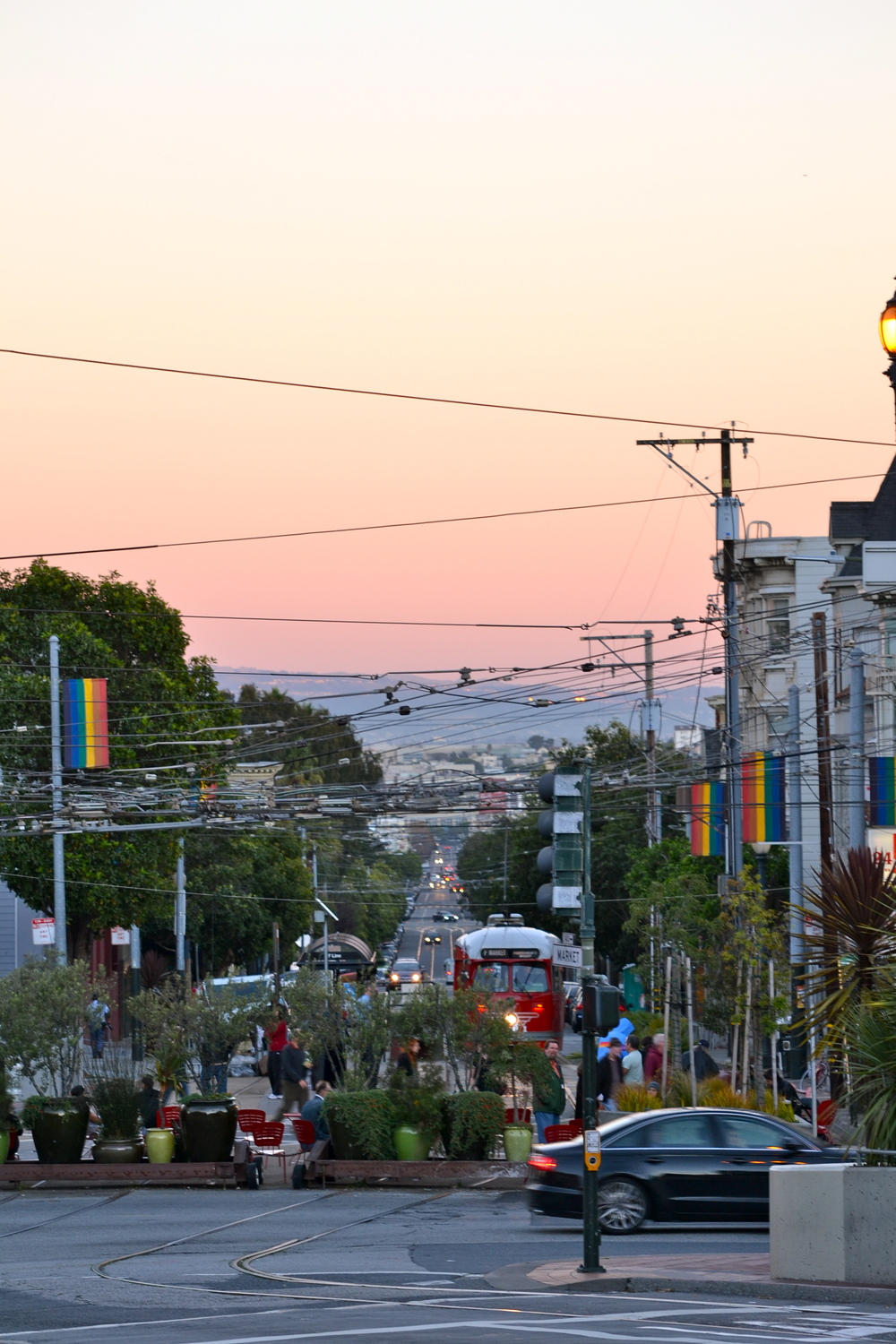 Sunset, Castro, San Francisco, California.