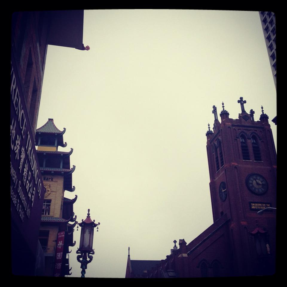 China Town grey sky