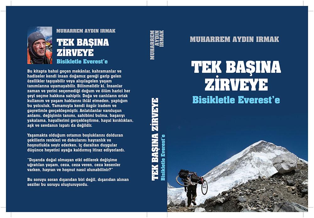 tek başına zırveye bisikletle Everest'e