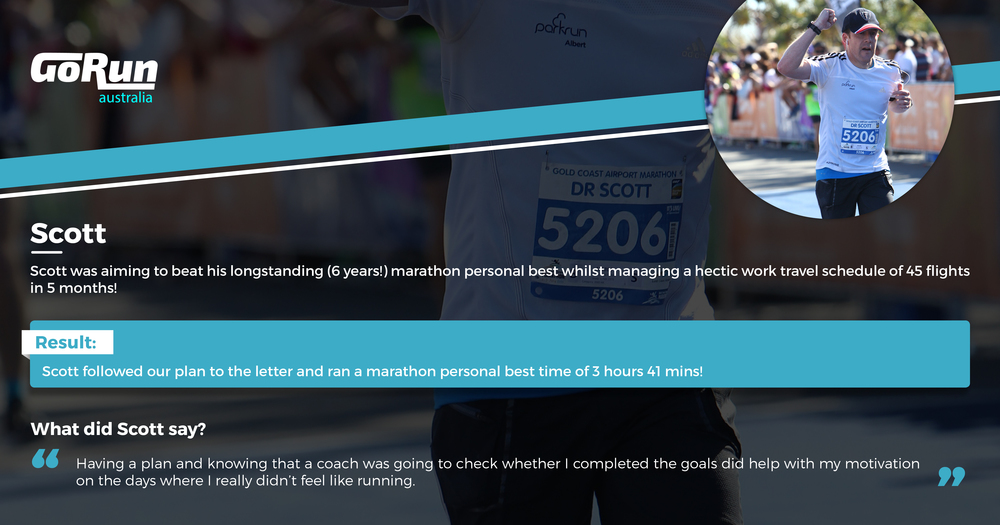 READ SCOTT'S AMAZING STORY OF HIS MARATHON PERSONAL BEST HERE