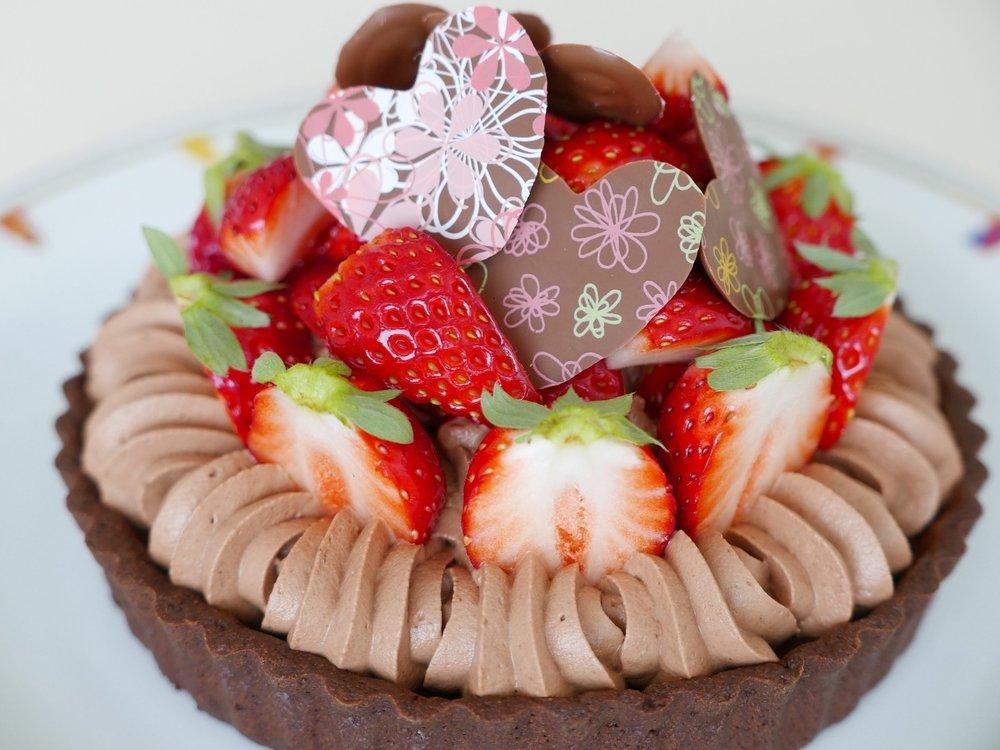いちごのチョコレートタルト