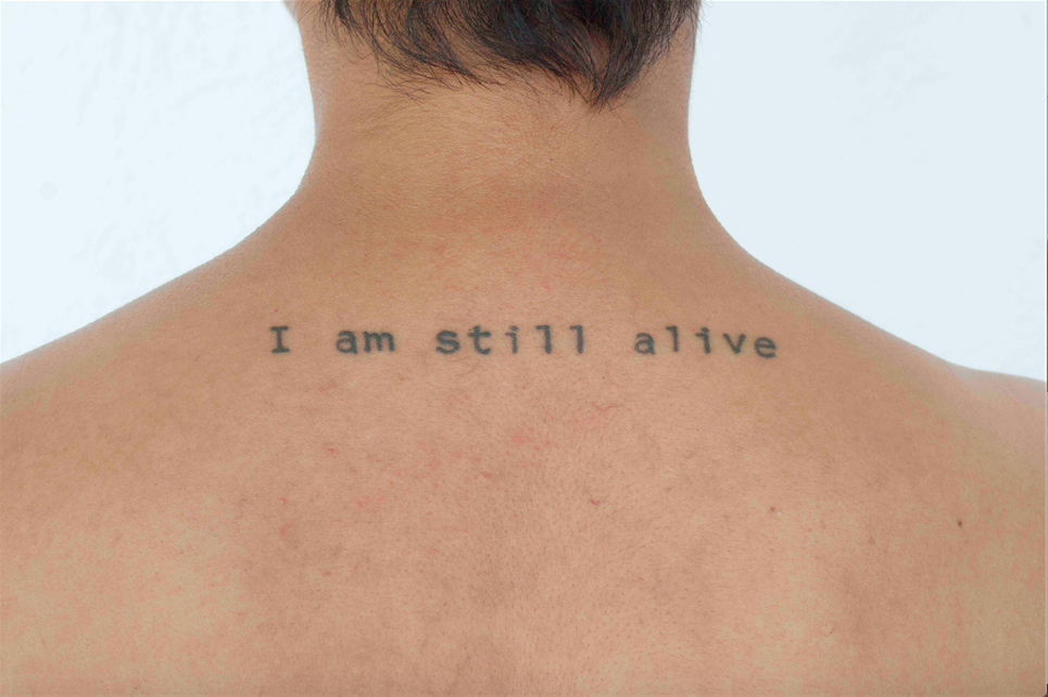 Melissa Guevara,  I Am Still Alive 2 , 2015. C-Print