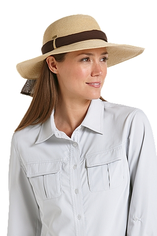 Coolibar SmartStraw Packable Tropicana Sun Hat