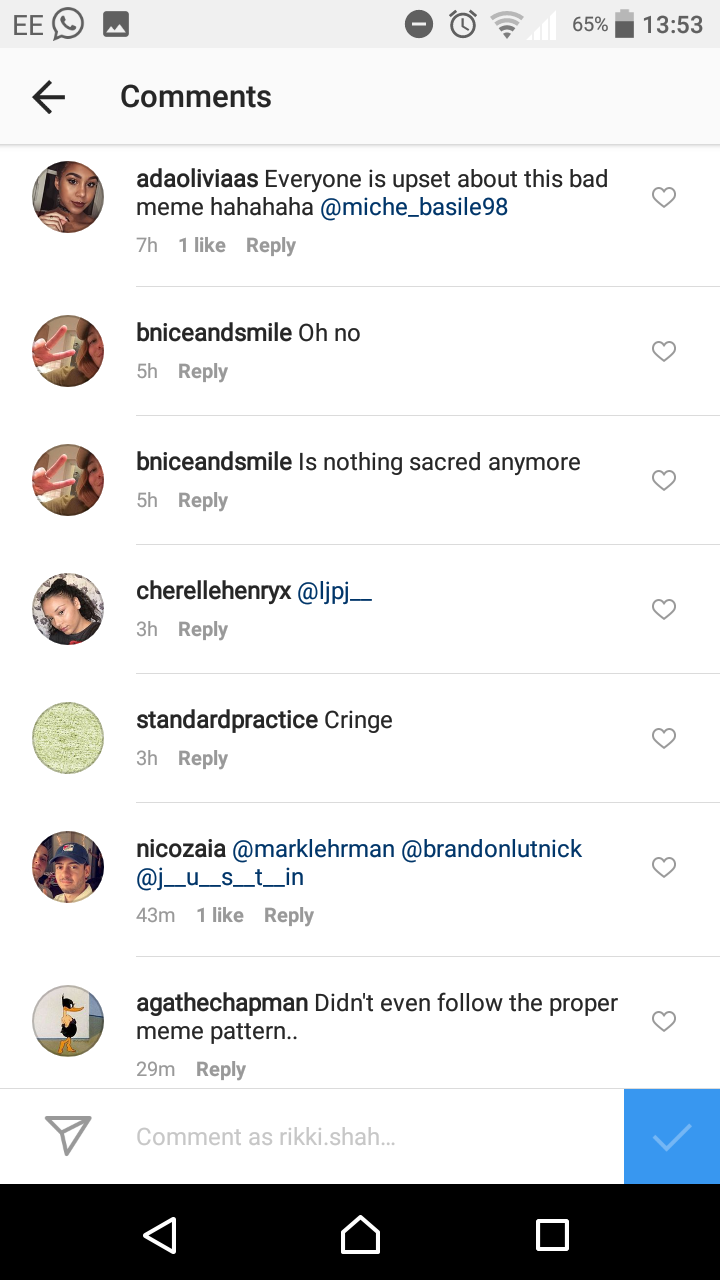 Gucci Meme Comments