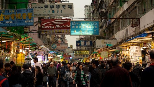 street scene in Sham Shui Po