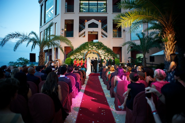 Wedding at the American Club terrace