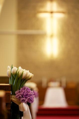 Hong Kong wedding flowers at Union Church