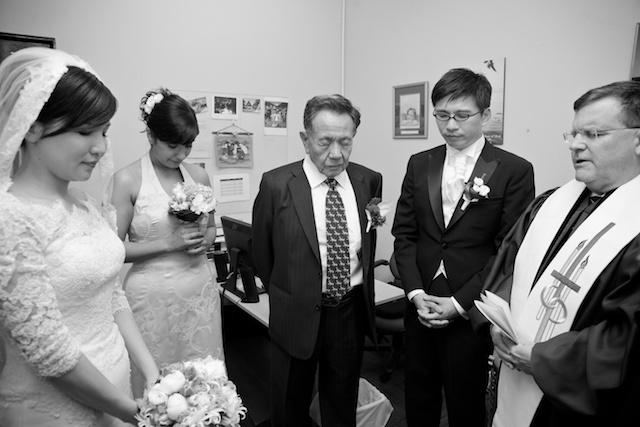 Pre-Wedding prayer at Union Church