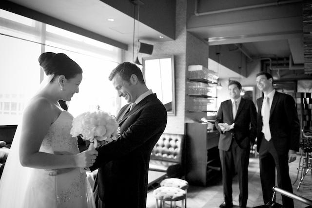 HK wedding groom first sees bride