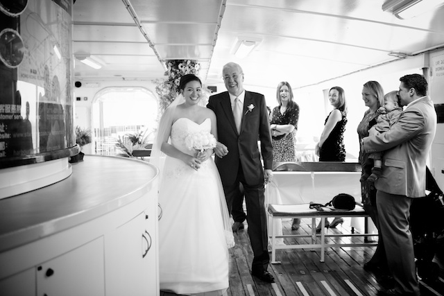 father walks bride down aisle on hong kong star ferry