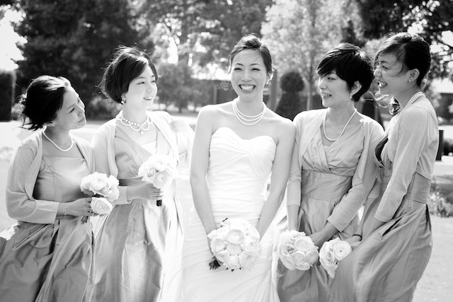 japanese bride bridesmaids group formal portrait