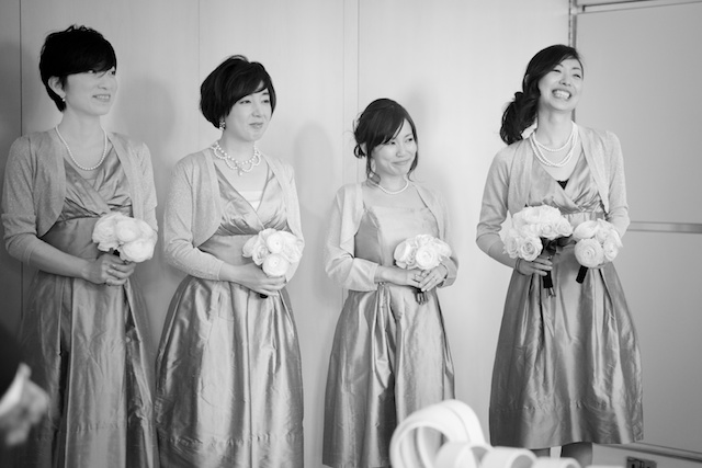 london wedding japanese bridesmaids ceremony