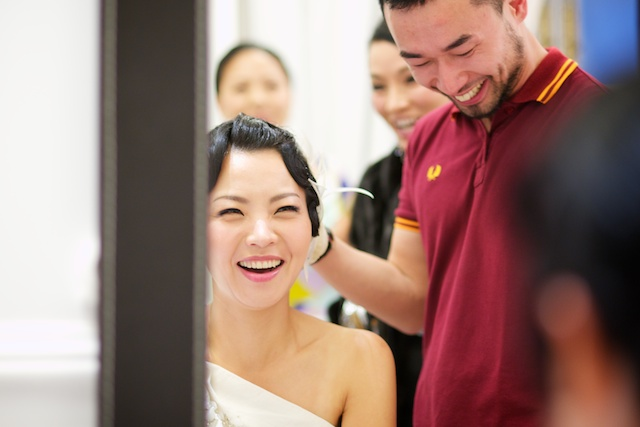 Hong Kong wedding bride makeup prep hullett house