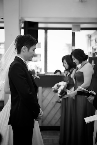 Hong-Kong-wedding-union-church-bride-groom-alter-vows-prayers-black-and-white