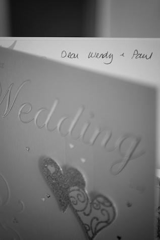 Hong Kong Wedding card greetings black and white
