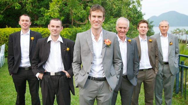 Hong Kong Wedding portrait session outdoor groom groomsmen best man father of groom