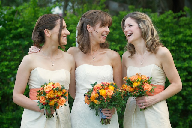 Hong Kong Wedding portrait session outdoor bride bridesmaids maid of honor laughing