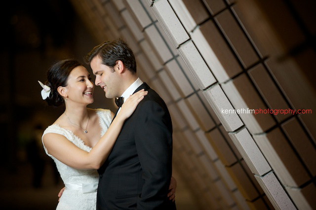 Hong Kong engagement wedding photoshoot wall composition couple portrait