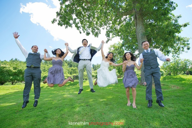 New York wedding outdoor portrait session jumping midair