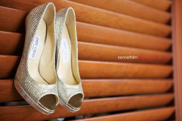 Kona Hawaii US Wedding bridal shoes Jimmy Choo getting ready preparations