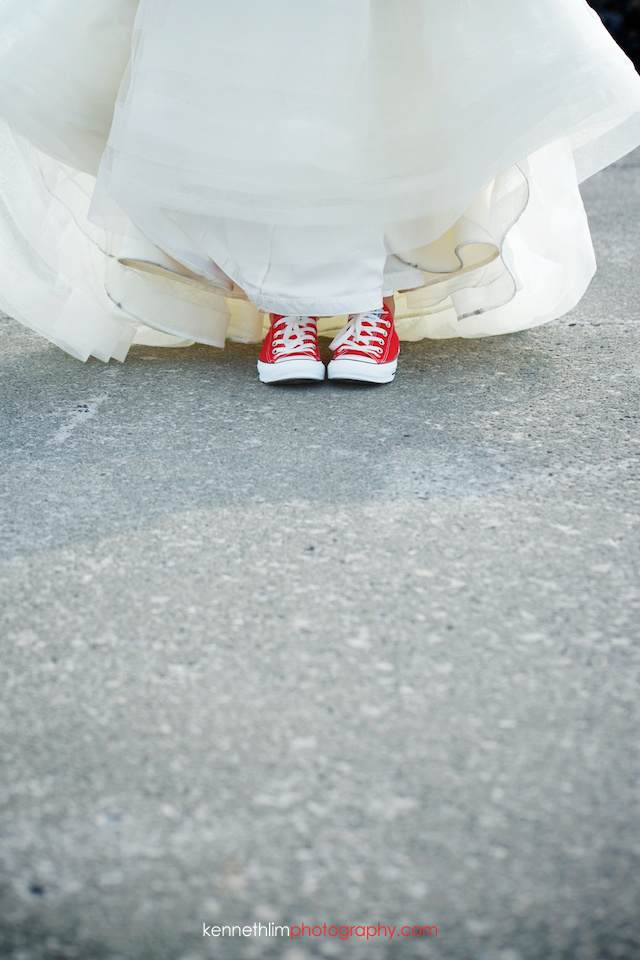 Kona Hawaii US Wedding outdoor bride dress shoes sneakers