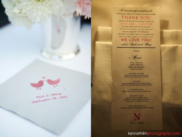 Kona Hawaii US Wedding outdoor invitation table top thank you
