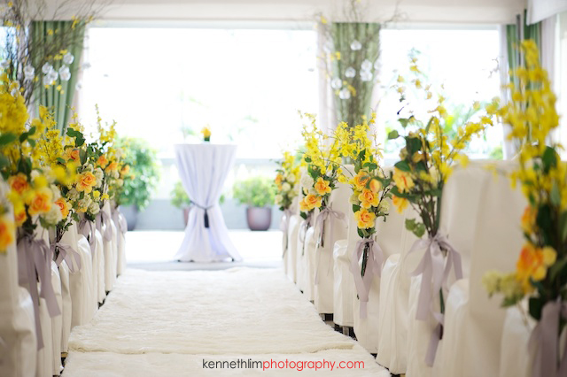 Hong Kong The Verandah wedding outdoor aisle environment alter