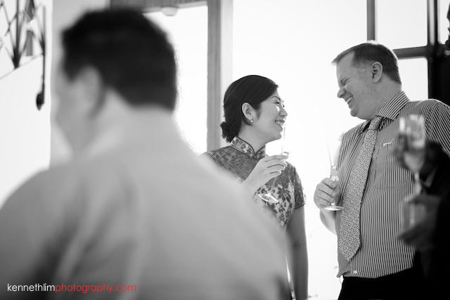Hong Kong Shatin wedding morning family groom and bride laughing