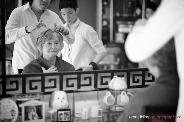 Hong Kong Shatin wedding morning makeup preparations mother of bride
