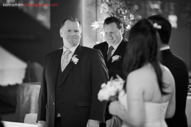 Hong Kong The Peninsula wedding groom sees bride first time