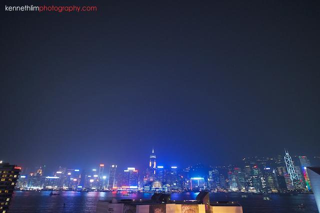 Hong Kong The Peninsula wedding hong kong island skyline