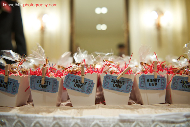 Hong Kong The Peninsula wedding table guest goodies