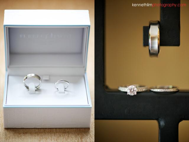 Hong Kong Shatin wedding morning rings in ring box