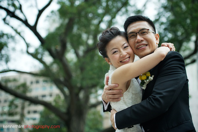 Hong Kong 1881 Heritage engagement photoshoot bride and groom hugging