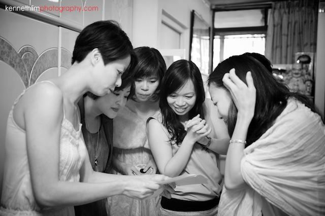 Hong Kong wedding morning bridesmaids preparation for games