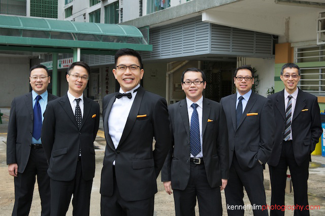 Hong Kong wedding morning groom and groomsmen