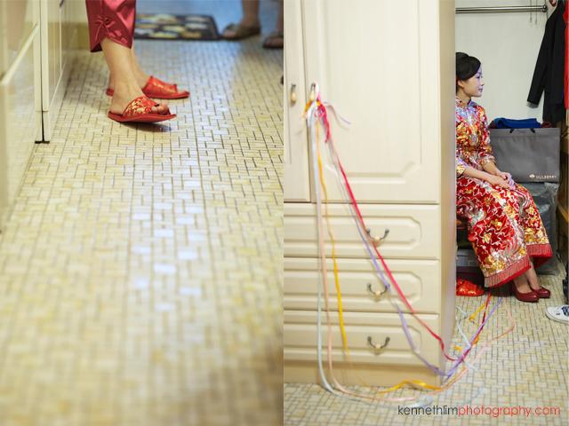 Hong Kong wedding morning preparations bride wedding slippers